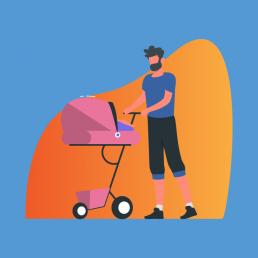Imagem destacando pai e filha para falar sobre como funciona um teste de paternidade